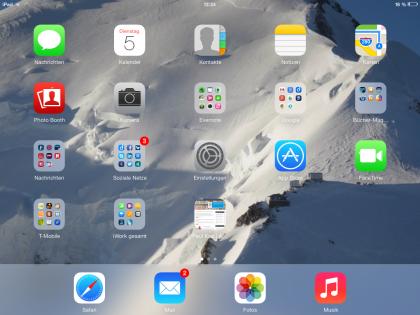 iPad-Startseite